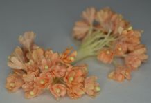 100 PALE PEACH GYPSOPHILA on THREAD Mulberry Paper